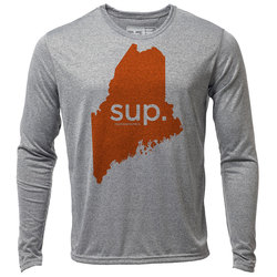 "sup. Maine ""Customize Graphic Color"" - Mens LS Hybrid T"