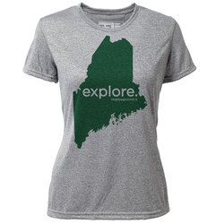 "explore. Maine ""Customize Graphic Color"" - Womens SS Hybrid T"