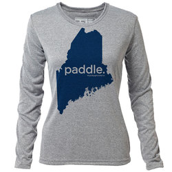 "paddle. Maine ""Customize Graphic Color"" - Womens LS Hybrid T"