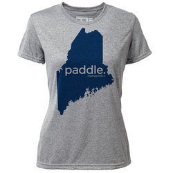 "paddle. Maine ""Customize Graphic Color"" - Womens SS Hybrid T"